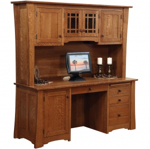 Jamestown Computer Amish Desk with Hutch Option