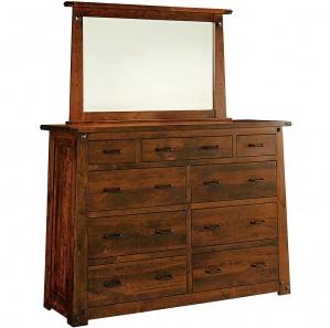 Encada 9 Drawer Dresser & Optional Mirror