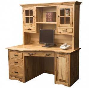 Alameda Wedge Style Computer Desk & Optional Hutch