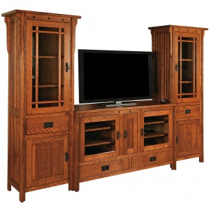 Royal Mission Amish TV Stand & Tower Cabinets