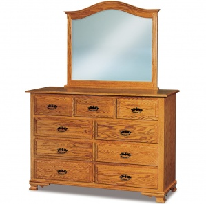 Heritage Hill 9 Drawer Amish Mule Dresser with Mirror Option