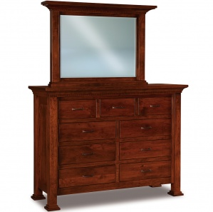 Empire Amish Dresser with Mirror Option