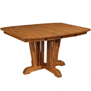 Orleans Pedestal Amish Dining Room Table