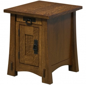 Holliston Amish End Table Cabinet