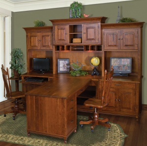 Henry Stephen's Partner Desk & Optional Hutch