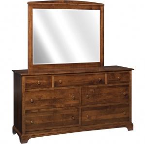 Capitan Amish Dresser with Mirror Option