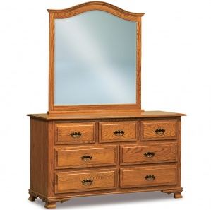 Heritage Hill 7 Drawer Amish Dresser with Mirror Option