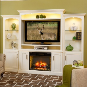 Mayfair Fireplace Entertainment Center & Optional Side Towers