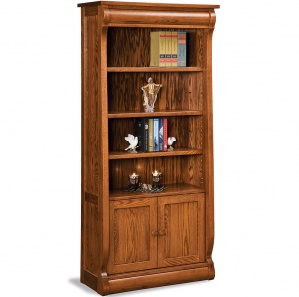 Olde Sleigh Bookcase Cabinet