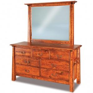 Artesa 7 Drawer Amish Dresser & Optional Mirror