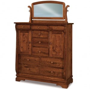 Fontaine His & Hers Amish Chest with Mirror Option