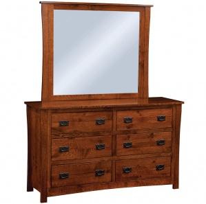 Calloway 6 Drawer Amish Dresser with Mirror Option