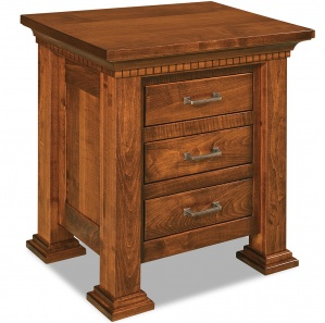 Empire 3 Drawer Amish Nightstand