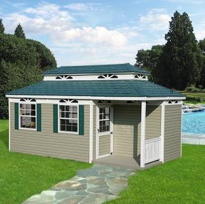 Vinyl Rectangle Pool House Cabana Kit
