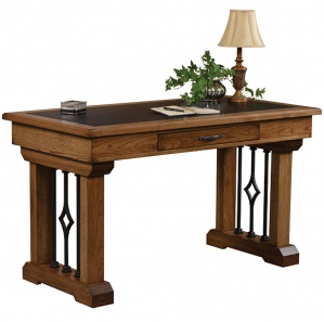 Eckstein Amish Writing Desk with Metal Base