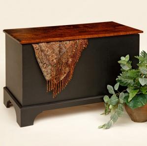 Vintage Maple Blanket Box