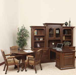 Lexington Amish Office Furniture Set with Hutch Option