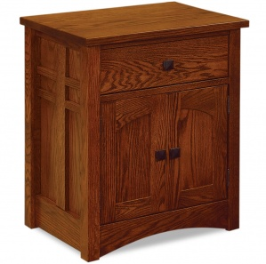 Kascade 1 Drawer, 2 Door Amish Nightstand
