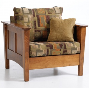 Ellis Avenue Amish Chair with Ottoman Option