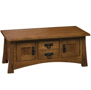Holliston Coffee Table Cabinet with Optional Lift Top