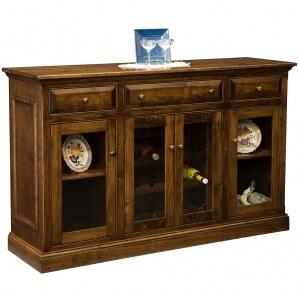 Pearl Street Amish Wine Cabinet