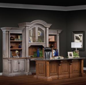 Paris Deluxe Amish Office Furniture Set