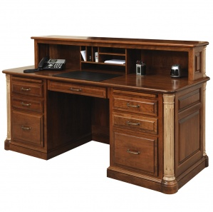 Jefferson Executive Amish Desk with Cubby Option