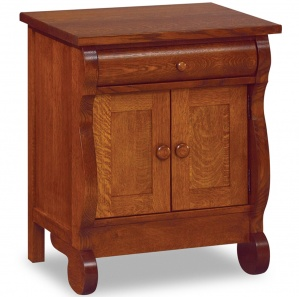 Olde Sleigh Nightstand with Doors