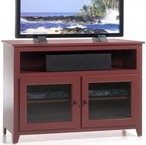 Linden Glass Door TV Cabinet with Shelf