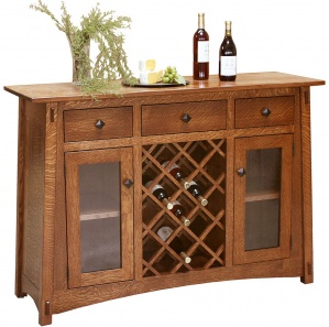 McCoy Amish Buffet with Wine Rack