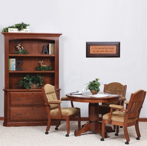Buckingham Amish Office Furniture Set with Hutch Option