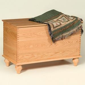 Vintage Oak Amish Blanket Chest