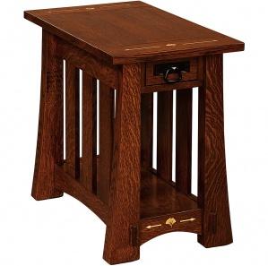 Mesa Wood Inlaid Amish End Table