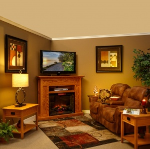 Sutter Hill Corner Fireplace TV Cabinet