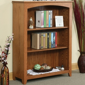 "Linden 36"" Adjustable Shelf Amish Bookcase"