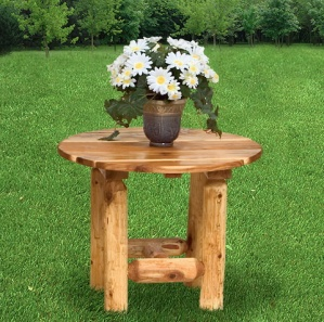 Hearthside Log Side Table