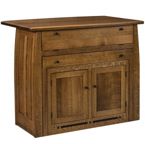 Boulder Creek Amish Kitchen Island with Pull-Out Table