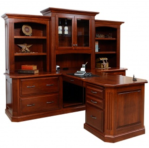 Buckingham Partner Amish Desk with Hutch Option