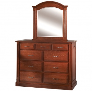Leyland Tall Amish Dresser with Mirror Option
