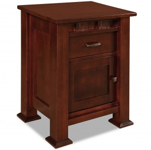 Sequoyah 1 Door, 1 Drawer Amish Nightstand