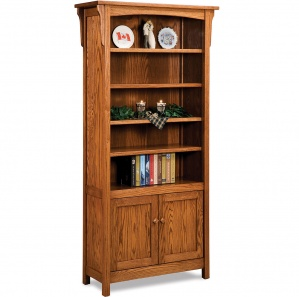 Bridger Mission 4 Shelf Amish Bookcase Cabinet