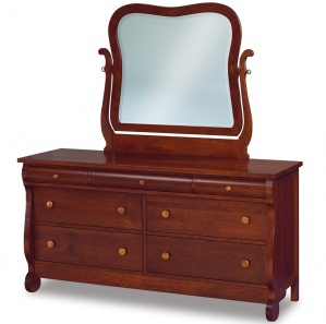 Olde Sleigh Amish Dresser with Mirror Option