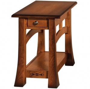 Brady Tupelo Inlaid Amish End Table