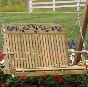 Hummingbird Porch Swing