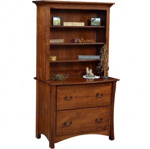 Master Lateral File Cabinet & Optional Amish Hutch