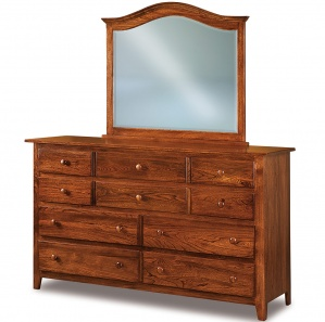 Eagle Hill 10 Drawer Amish Dresser with Mirror Option