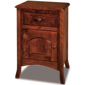 Summerfield High Drawer & Door Amish Nightstand