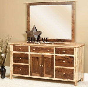 Sotheby Deluxe Amish Dresser with Mirror Option
