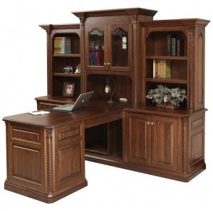 Lexington Partner's Amish Desk with Hutch Option