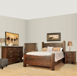 Live Edge Amish Bedroom Furniture Set